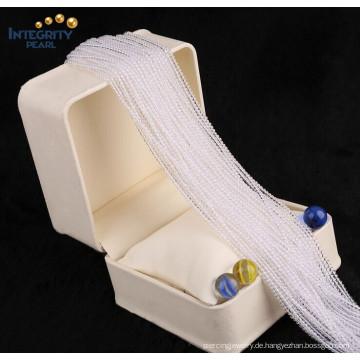 Gmenstone lose Quarz Großhandel nette Größe 2mm 3mm natürliche weiße billige Kristall Perlen