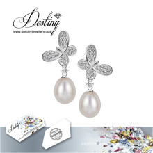 Destiny Jewellery Crystals From Swarovski Earrings Butterfly Pearl Earrings