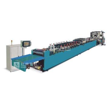 Machine de fabrication de sacs verticaux à fermeture à glissière tri-servo à grande vitesse (tri-servo)
