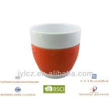 Tasse de cappuccino de forme de ventre 220cc
