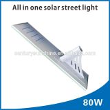 80W high lumens solar light solar street light on sale