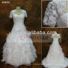 RSW265 Detachable Skirt Wedding Dress Organza Ruffles Skirt With Jacket Connected