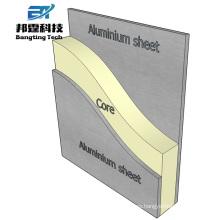 Materiales de construcción de revestimiento exterior hoja compuesta de aluminio acp