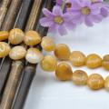 15 мм Желтый Агат природных Бусины Оптовая торговля драгоценными камнями
