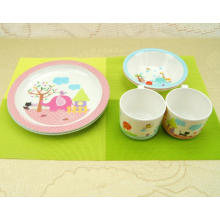 (BC-MK1008) Fashinable Design réutilisable Melamine 3PCS Kids Cute Dinner Set