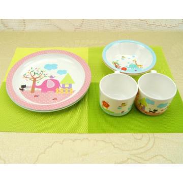 (BC-MK1008) Fashinable Design Reusable Melamine 3PCS Kids Cute Dinner Set