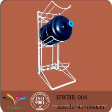 Material de suministro al por menor estante de exhibición del sostenedor de la botella de agua de 5 galones