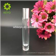 8 ml 10 ml 12 ml transparent rouleau sur verre bouteille huile essentielle parfum huile essentielle fond épais verre bouteille