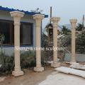 Columna de mármol de la escultura de piedra beige (SY-C022)