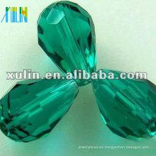 Gotas de gota de lágrima de vidrio estéreo facetadas a granel 5500 cuentas de color Esmeralda