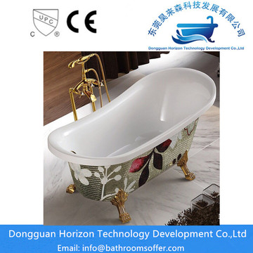 AquaAcrylic Double Slipper Freestanding Bathtub