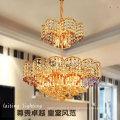 Lustre moderne en cristal de luxe d'or pour la décoration d'hôtel