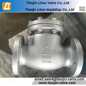 Válvula de retenção flangeada de ferro dúctil, válvula de retenção 8 polegadas
