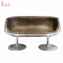 Cup Shaped Couch Double Chair Aviator Aluminum Bar Lounge Chair