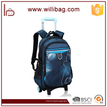 Beliebte einfache Design-Rolltrolley Rucksack Schule Trolley Bag