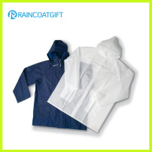 Impermeable ligero impermeable claro PVC / EVA Raincoat Rvc-036