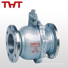API standard carbon steel flange end floating type ball valve