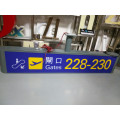 Airport Metro Subway Shopping Mall Supermarket Interior Indoor Primary Suspended Directional Digital Sign Entrance Exit Pylon Sign