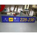 Aeroporto de estação de Metro interior Interior personalizado LED saída entrada guia Signage Wayfinding diretório de informações