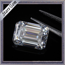 Precio de consulta Carat 7.5X5.5mm Clear White Emerald Cut Moissanite Diamond