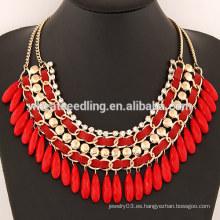 YiWu Joyería Moda Belleza bohemia corto cadena Agua Drop Collar diseños