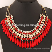 YiWu Jewelry Fashion Beauty Bohemia Short Chain Water Drop Necklace Designs