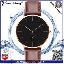 Yxl-478 neue Entwurfs-Art- und Weisequarz-Uhr-Leder-Stahlrückseiten-Handgelenk-Uhr-Förderung-heißer Verkaufs-Uhr-Uhr