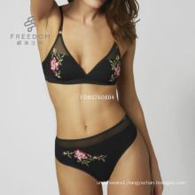 2017New design black wireless bra set xx sexy lady new bra panti photo xx sexy simple bra and panty