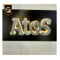 Halo Lighting Effect Stainless Steel Backlit Letters Sign
