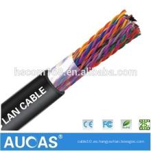Cable impermeable subterráneo del teléfono al aire libre Multipair Cable impermeable negro del teléfono de Cat3