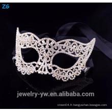 Vente en gros de lunettes de cristal à bas prix, masques de mascarade sexy