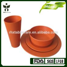 Наборы посуды Bamboo Fiber Эко дружественные наборы посуды 4шт