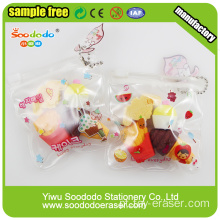 Collectible PVC Bag 3D Pencil Erasers Fornecedor