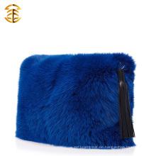 2016 Luxus Genuine Fox Pelz Handtasche Funky Casual Damen Pelz Clutch Bag