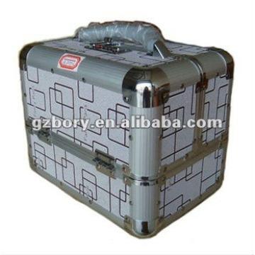 Estuche cosmético de aluminio gris (Hz-2)