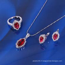 Ensemble de bijoux en rubis de luxe Xuping avec Rhodium plaqué (61092)
