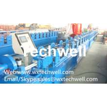 Automatic Steel Guide Rail Cold Roll Forming Machine for Making Security Door Guide Tracks