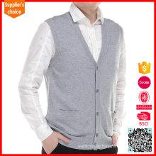 El último diseño 100% acrílico hizo punto el chaleco fresco suéter libre que hace punto los chalecos de los patrones