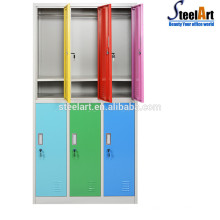 6 door Intellgince automatic metal cloth gym magnetic locker