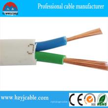 Kupfer-Kern-PVC-Isolierung und Mantel flach flexibler Draht Rvvb