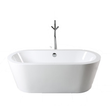 Acrylic Oval Freestanding Bathtub with Thick Rim