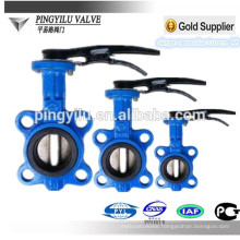 Grey iron flanged rubber expansion joint seal butterfly valve