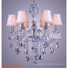 Europa estilo vidro claro cristal vela lustre de luz para casa 81016