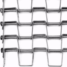 Cinta transportadora de malla de eslabones de cadena plana de acero inoxidable