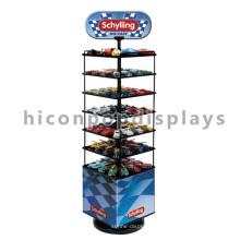 Custom Logo Kids Toys Venta al por menor de la tienda de publicidad de múltiples capas de metal piso de juguete modelo de coche de exhibición