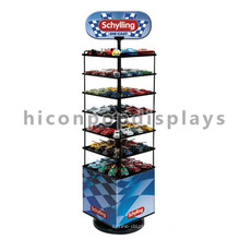 Custom Logo Kids Toys Loja de varejo Publicidade Multi-Layer Metal Floor Toy Car Model Display Stand