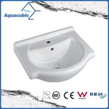 Semi-Recessed Bathroom Ceramic Cabinet Basin Hand Washing Sink (ACB4142)