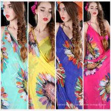 Китай горячей продажи шарф пляж обертывания женщины оптовая мода один цветок парео
