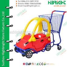 Пластиковая тележка для покупок с игрушечной тележкой для забавы детей