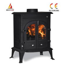 Wood Burning Stove with Two Doors